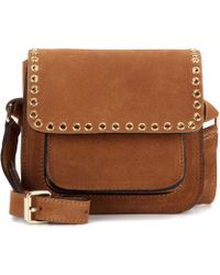Étoile Isabel Marant - Marfa Embellished Suede Cross-Body Bag - Lyst
