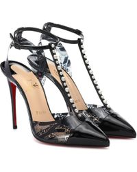 Christian Louboutin - Nosy Spikes Pvc And Leather Court Shoes - Lyst