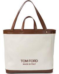 Tom Ford Tote T Screw Medium aus Canvas - Mehrfarbig