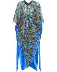 Balenciaga - Floral-printed Silk Satin Kaftan - Lyst