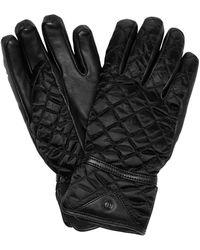 Bogner Leather-trimmed Quilted Ski Gloves - Black