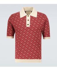 Gucci Ouverture Poloshirt mit Seidenanteil - Rot