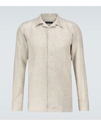 Thom Sweeney - Hemd aus Leinen - Lyst
