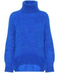 Valentino Mohair-blend Turtleneck Jumper - Blue