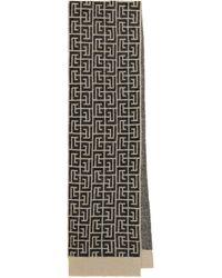 Balmain Schal aus einem Mohair- und Wollgemisch - Schwarz