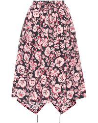 KENZO - Floral-printed Cloqué Skirt - Lyst