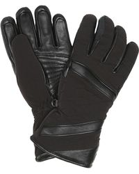 Toni Sailer Alek Leather-trimmed Ski Gloves - Black