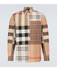 Burberry Camisa Terence de patchwork - Multicolor