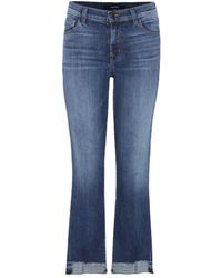 J Brand - Selena Crop Jeans - Lyst