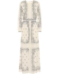 Tory Burch Robe longue imprimée en coton - Multicolore
