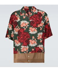 Undercover Camisa de manga corta estampada - Rojo