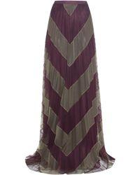 Mary Katrantzou - Giselle Striped Tulle Skirt - Lyst