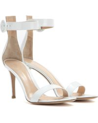 Gianvito Rossi Exclusive To Mytheresa – Portofino Patent Leather Sandals - White
