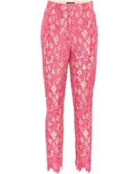 Dolce & Gabbana Floral Lace Pants - Pink