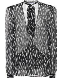 Givenchy Printed Silk Top - Black