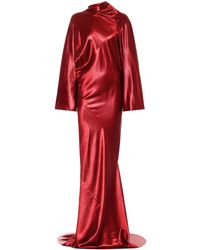 Rick Owens Seb Satin Gown - Red