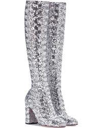 Dolce & Gabbana Stiefel mit Pailletten