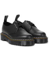 Rick Owens X Doc Marten Bex Leather Derby Shoes - Black