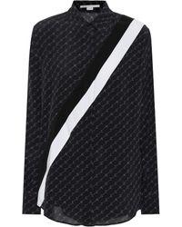 Stella McCartney Printed Silk Shirt - Black