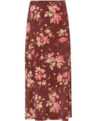 Zimmermann Unbridled Contour Printed Skirt - Red