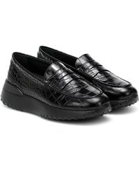 Tod's Plateau-Loafers Gommino aus Leder - Schwarz