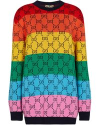 Gucci Pullover aus Jacquard - Mehrfarbig