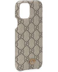 Gucci Funda Ophidia GG para iPhone 11 Pro - Marrón