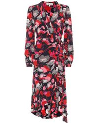 Diane von Furstenberg Carla Two Silk Crepe De Chine Wrap Dress - Multicolor