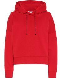 Moncler Sudadera con capucha de algodón - Rojo