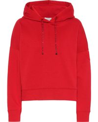 Moncler Cotton-blend Hoodie - Red