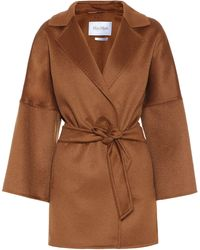 Max Mara Angizi Double-face Cashmere Coat - Brown