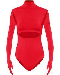 Vetements Body aus Jersey - Rot