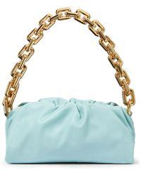 Bottega Veneta Borsa Chain Pouch in pelle - Blu