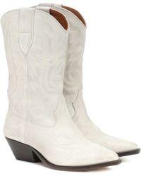 Isabel Marant Stiefel Duerto aus Leder - Weiß