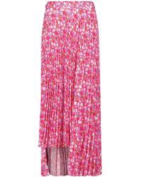 Balenciaga Falda larga de crepé de tiro alto - Rosa