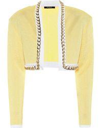 Balmain Exklusiv bei Mytheresa – Cropped-Jacke aus Strick - Gelb