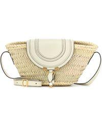 Chloé Marcie Small Raffia Crossbody Bag - Natural