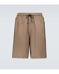 Gucci Shorts GG aus Jersey - Braun