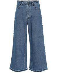Acne Studios Jeans culottes a vita alta - Blu