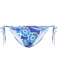 Emilio Pucci Slip bikini a stampa - Blu