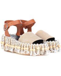 Loewe X Paula's Ibiza Platform Sandals - Natural