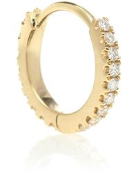 Maria Tash Eternity Diamond & 18kt Gold Hoop Single Earring - Metallic