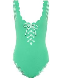 Marysia Swim - Exclusive To Mytheresa – Palm Springs Reversible Gingham Swimsuit - Lyst