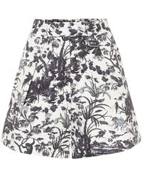 Erdem Shorts Howard a stampa in cotone - Multicolore