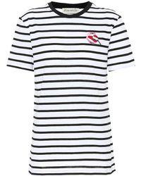 Être Cécile T-Shirt a righe in cotone - Nero
