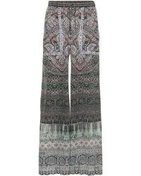 Camilla - Embellished Printed Silk Pants - Lyst