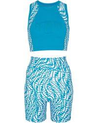 Fendi Set aus Bikini-Oberteil und Höschen - Blau