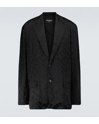 Balenciaga Bedruckter Blazer aus Jacquard - Schwarz