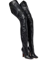 Vetements Overknee-Stiefel aus Leder - Schwarz