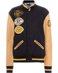 Polo Ralph Lauren - Leather And Wool Varsity Jacket - Lyst